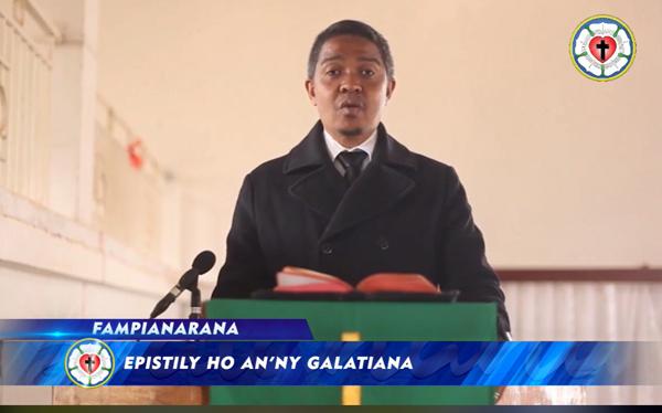 Fampianarana SORATRA MASINA, Epistily ho an'ny Galatiana